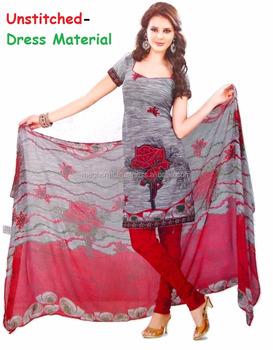 e16ea1fd2c indian printed Crape Material Salwar Kameez-Daily wear Salwar Kameez-Party  wear suit-