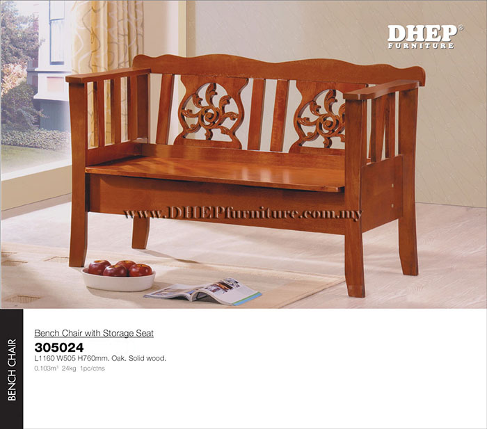 Classic Indoor Wood Bench Chair With Rest Back Amp Storage