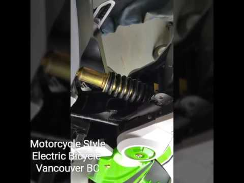 Motorcycle style electric bicycle review, motorino, Vancouver, looks like a motorcycle w pedals