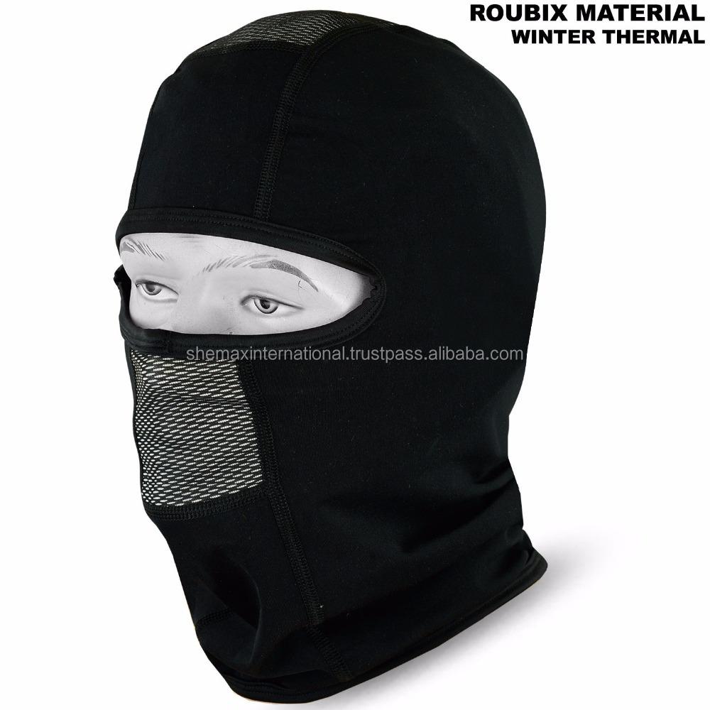 Motorcycle Balaclava Thermal Roubix Face Mask Motorbike Under Helmet Black