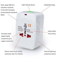 Wholesale International All in One Universal World Wide Travel Plug Adapter - Supports more than 150 countries