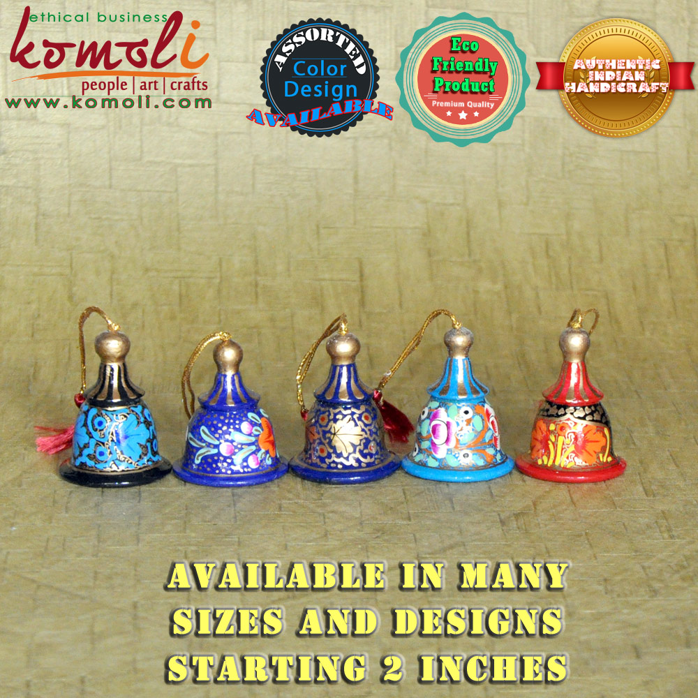 Hand Painted Bell Shape Xmas Lights And Tree Decorations Indian ... for Indian Hanging Decorations  lp4eri