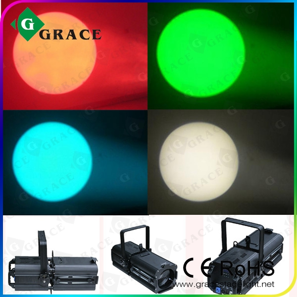 LED Zoom Profile Light LED RGBW quadcolor 180w church light