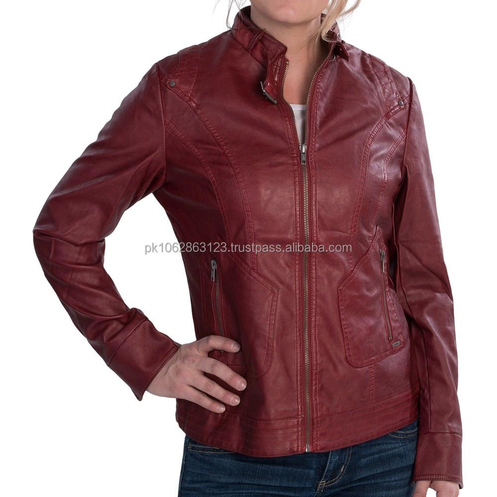 Rote Lederjacke zu verkaufen