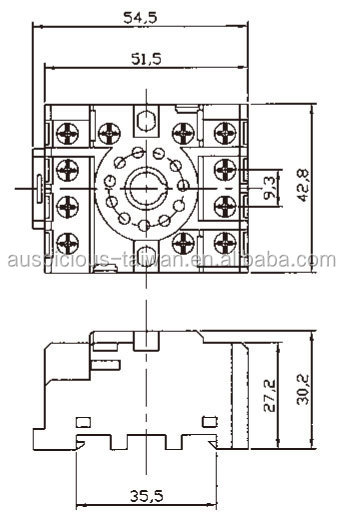 11 Pins Finger Protected Relay Socket Pf113ae View Round