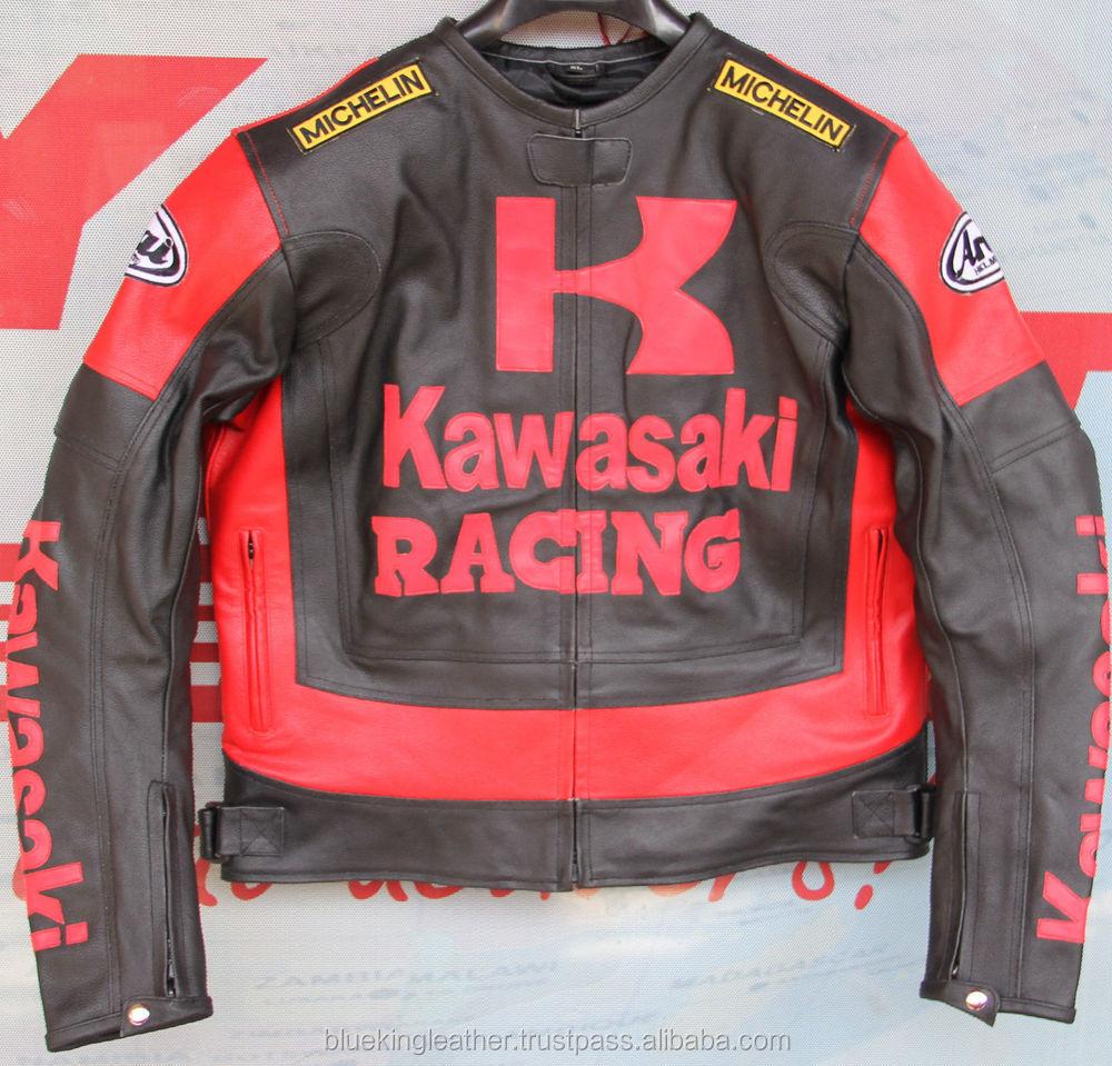 Pelle Racing Redamp; Giacche Di Uomini Pelle Kawasaki Moto Giacca Buy giacca gli Imbottitura Black Sicurezza In Biker Biker hQdstr