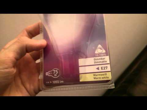 Livarno Lux 13W led bulb from Lidl 1055 lumens