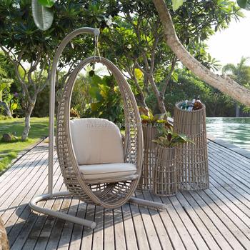 Wicker PE Rattan Swing Egg Hanging Chair  UV PE Outdoor Rattan Swing Egg  Chair High
