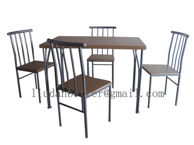 영국으로 판매 거실 가구 금속 MDF 식탁과 의자 세트 장주 가구 ...