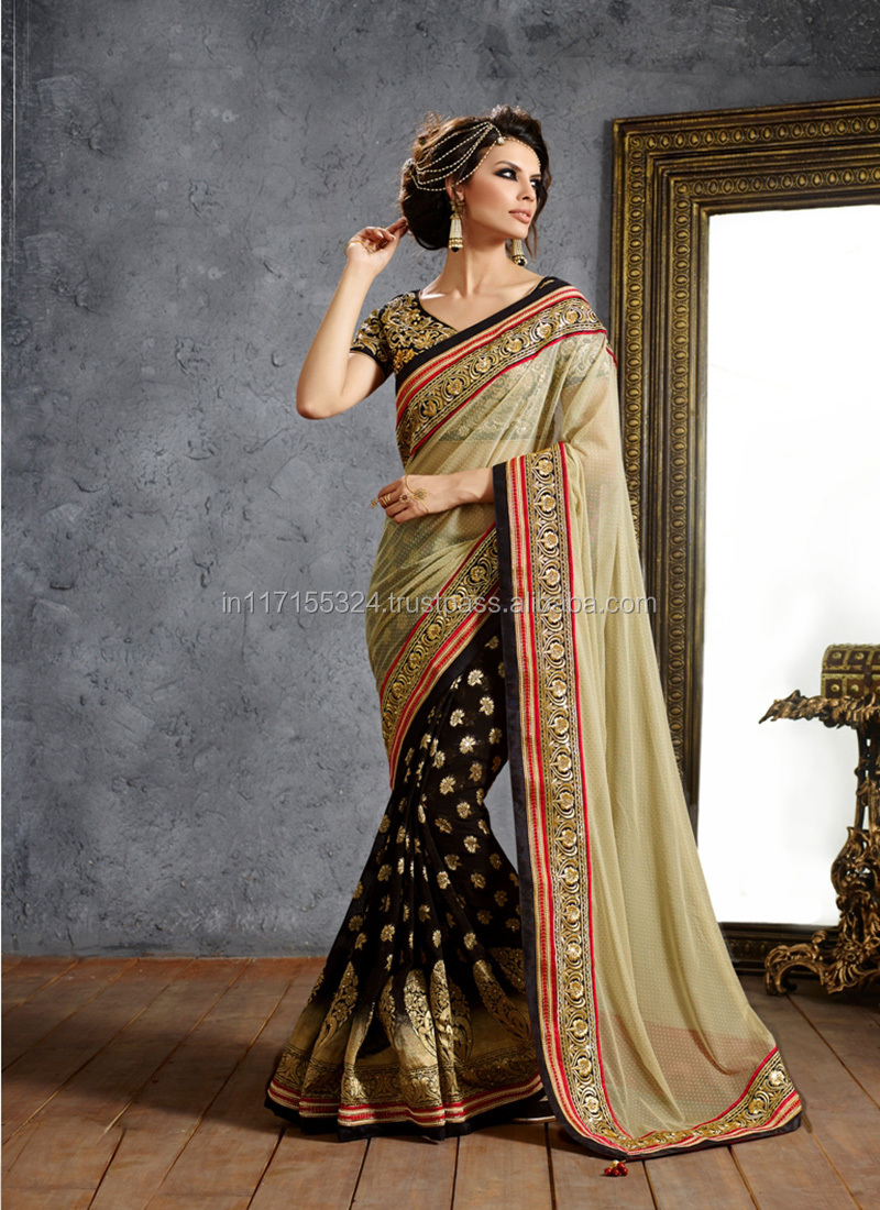 9ed9f912a Saree latest online surat fancy party wear stylish indian saree  fashion wholesale net saree