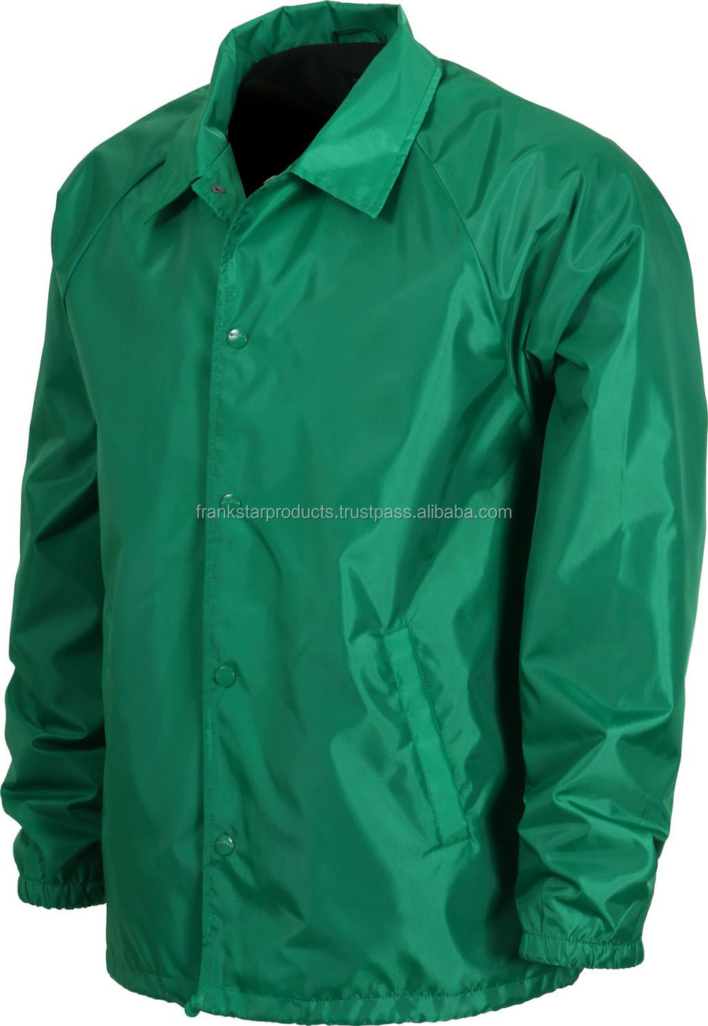 New Custom Made Jacket Polyester / Nylon Coach Jacket Water Proof ...