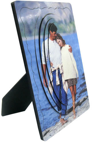 Promotional Customized 3D printable photo plate, fashional sublimation photo panel