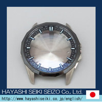 ion plating coated surface treatment pure titanium japan case watch made round shape