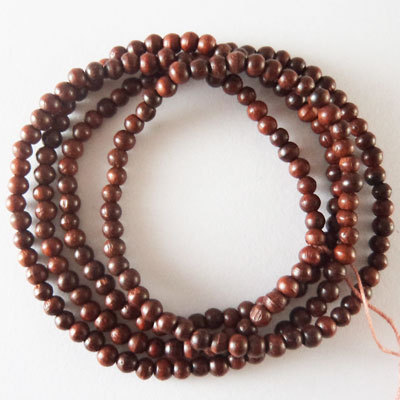 Red Sandal Wood Beads 3mm