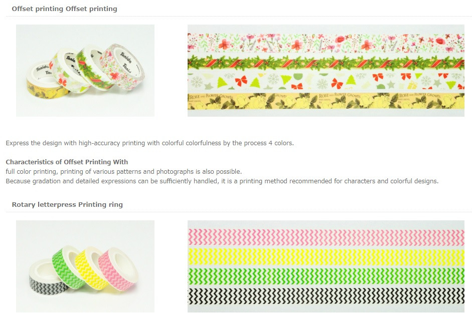 Popular and Hot-selling custom game card printing Washi Tape with Colorful