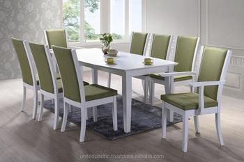 Modern Dining Set White Wooden