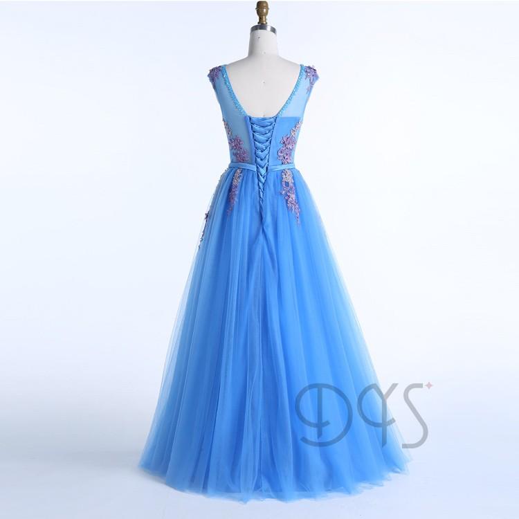 Vestidos de noche azul turquesa