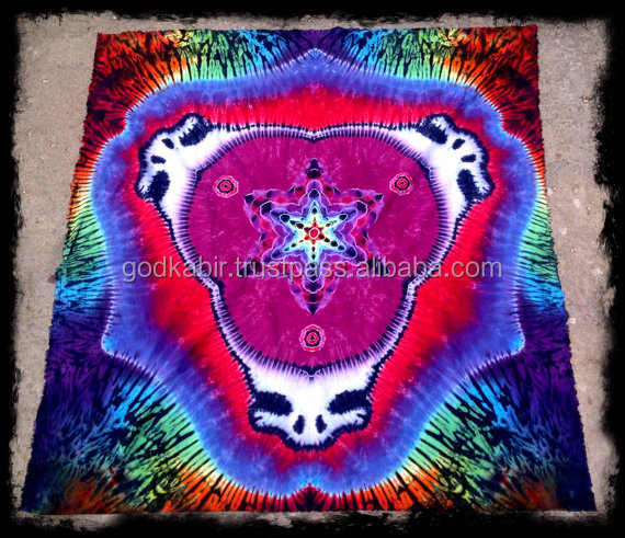 Indian mandala Tapestry Tiedye Mandala Steal Your Face bedsheets