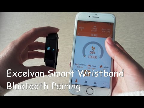 ��How to��Bluetooth Pairing Excelvan Smart Bracelet Bluetooth Sports Fitness Calories Wristband