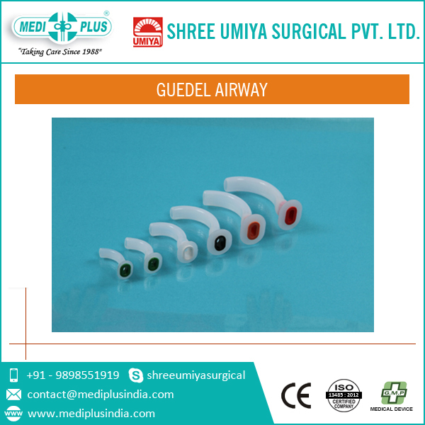 2016 Sterile/Disposable Guedel Airway with Extra Soft Surface Finish for Unobstructed Anaesthesia