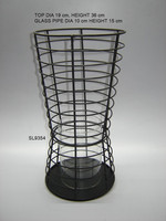 Iron Wire Wind Light Candle Holder | Stained Glass Meatl Votive Candle Holder