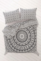 100% cotton bed sheets psychedelic black and white round elephant mandala tapestry queen size bohemian tapestry bedspread
