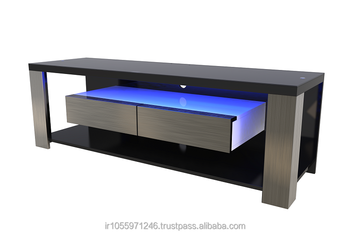 X142 Lcd Tv Stand Without Led Mdf Luxury High Gloss Bracket Ready
