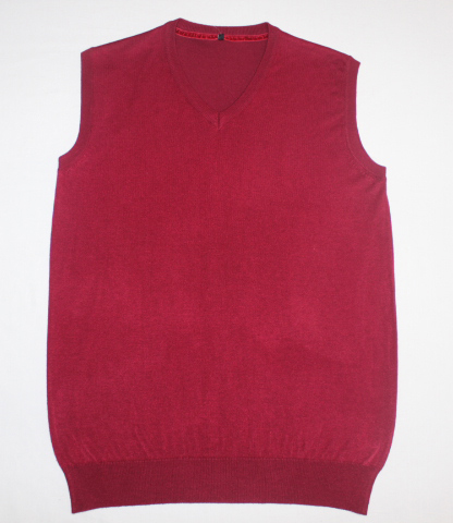 MENS LONG SLEEVE V NECK VEST SWEATER