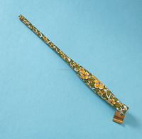 Exclusive hand carved and hand painted oblique dip pen holder - many designs to choose from