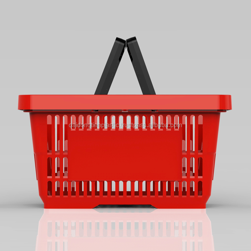 Plastic Shopping Basket for Supermarket manufactured in Dai Dong Tien Factory