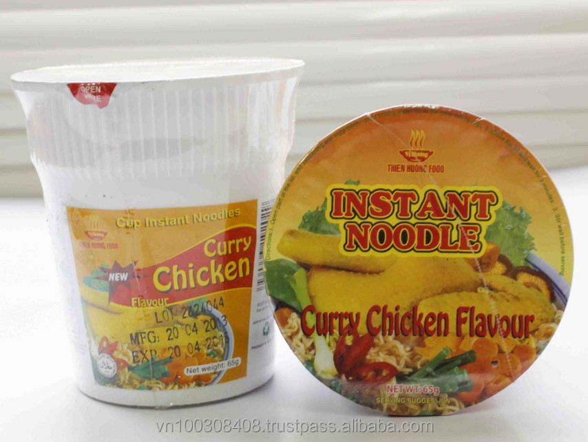 Curry Chicken Flavour In CUP - Instant Noodles 65g Vietnam Manufacturer