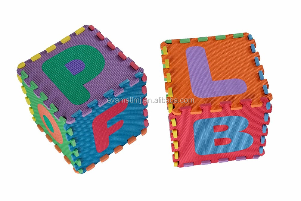 36pc Alphabet Numbers Waterproof EVA Floor Play Mat Baby Room ABC Foam Puzzle