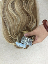 2016 100% human hair European remy tape hair extensions, double drawn hair
