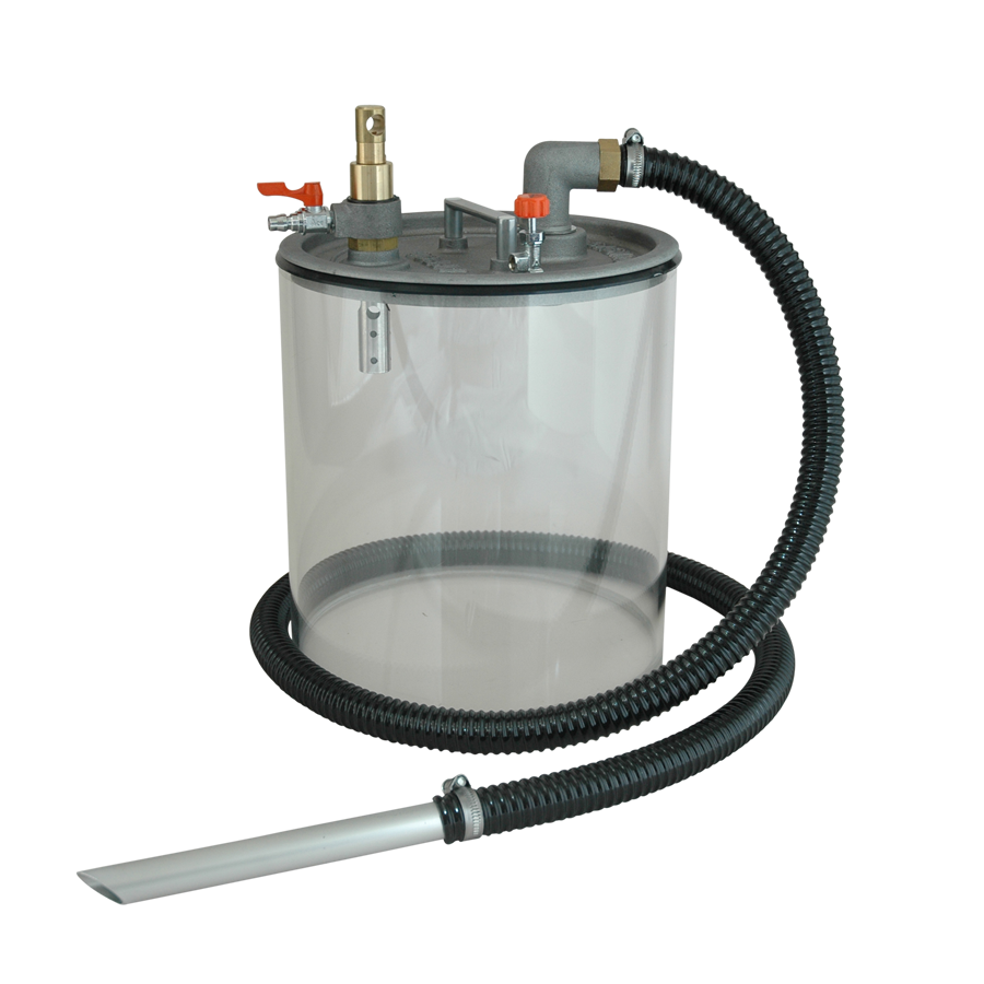 High-security pneumatic vacuum cleaner pump APPQO-i for industrial use , acessories also available