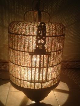 Vietnamesisch Vogelkafig Handgefertigten Bambus Laterne Schone