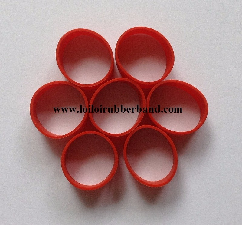 008 Small Size Wide Solid White Rubber Band For Binding
