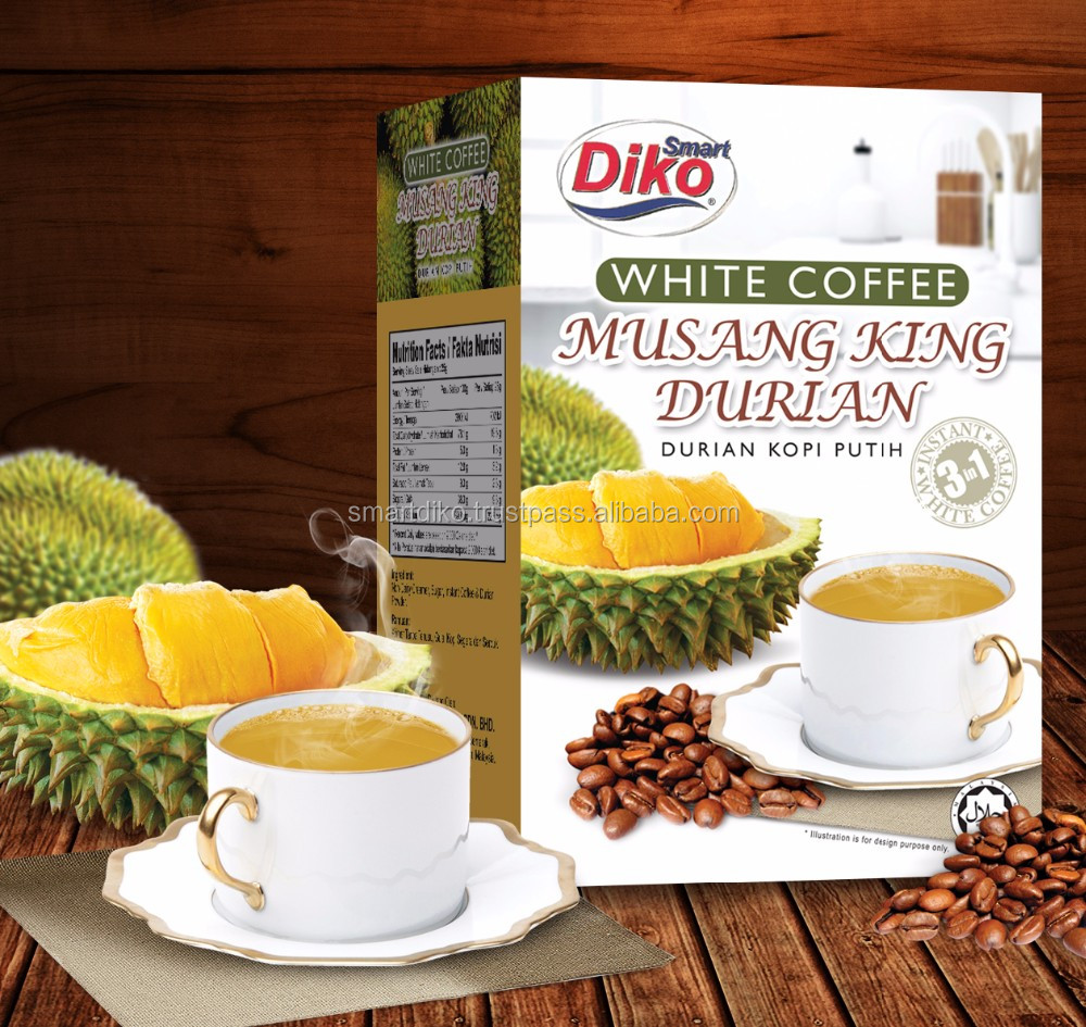 Malaysia Instant Durian White Coffee 3in1 250gm