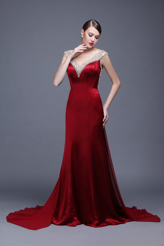 8fef99c907e6 2016 Hot Popular Elegant Style Shiny Beads Embroidery Sexy Backless Party  Dresses Chaozhou