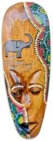 Big Lady Face Wall Hanging Wood Painted Sculpture Handmade Inspirational Mask Decor Art Jaipur Handicrafts