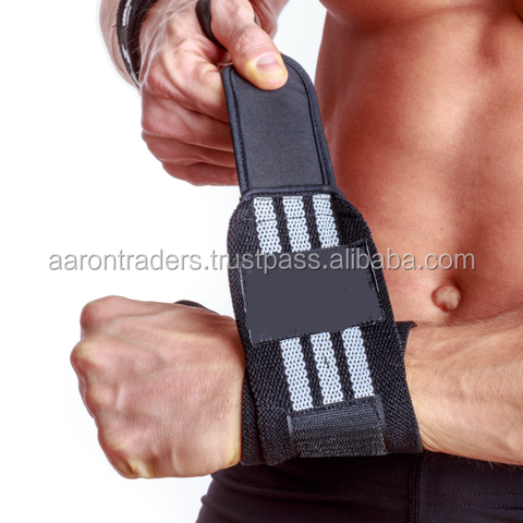 Rogue Wrist Wraps Black White Oly Powerlifting Weightlifting Train Support