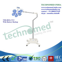 Ceiling-mounted LED surgical light with control panel portable medical examination light
