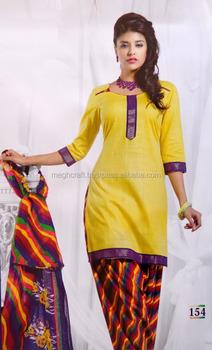 4da4c3203c Bollywood Style cotton Dress Material-Wholesale Printed Patiyala Suit-Party  wear Cotton Suit-