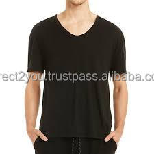 summer casual plain men short sleeve custom cut and sew t shirts