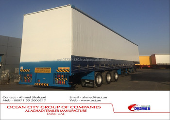 3 Axles Double Decker Curtain Side Semi Trailer Made In UAE 2016