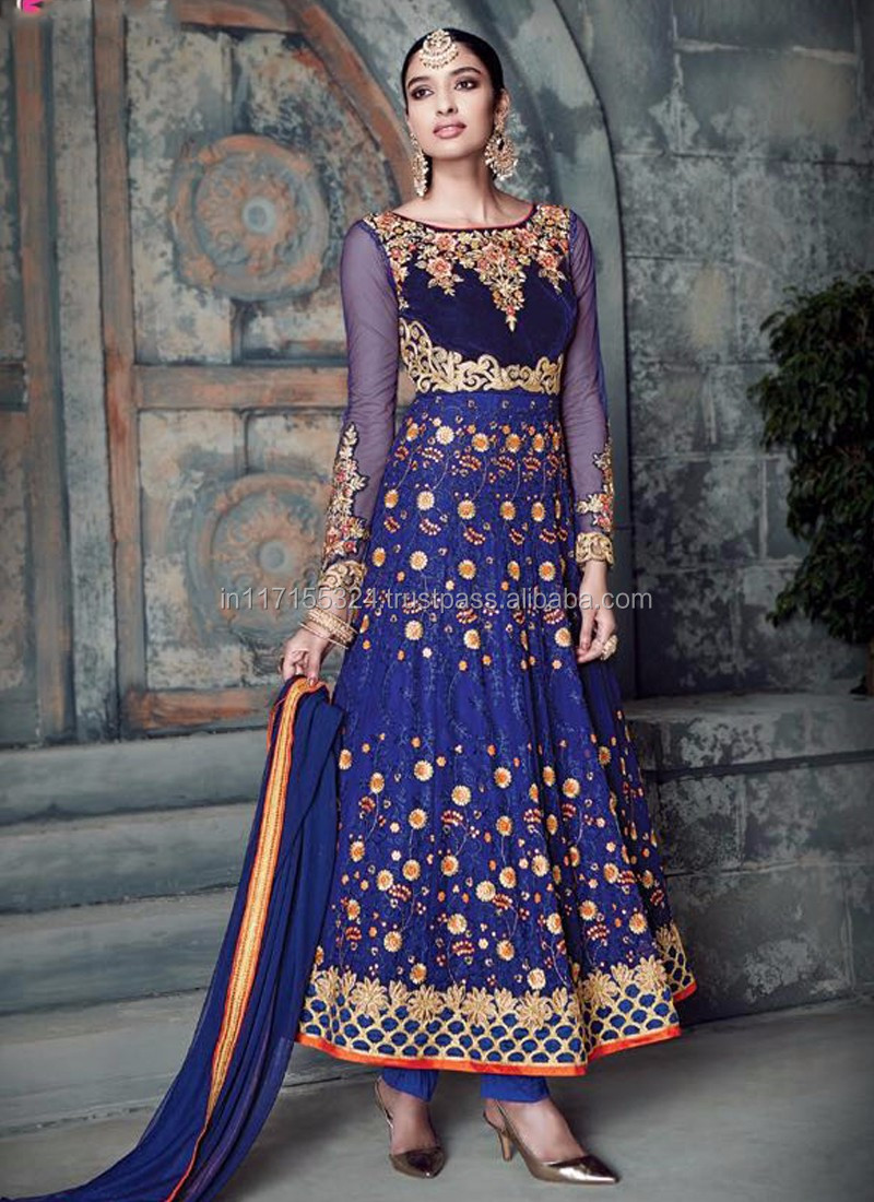 Indian Ladies Lujo Salwar Anarkali Mayoristas Vestido India Gujarat ...