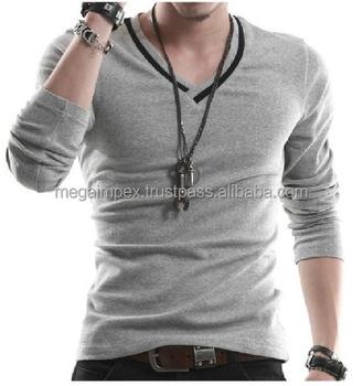 409e7e05 V Neck / Customized Plain V Neck T Shirt Men Stylish Fashion T-shirt - Buy  Loose V Neck T-shirt,High Neck T-shirt,Deep Neck T-shirts Product on ...