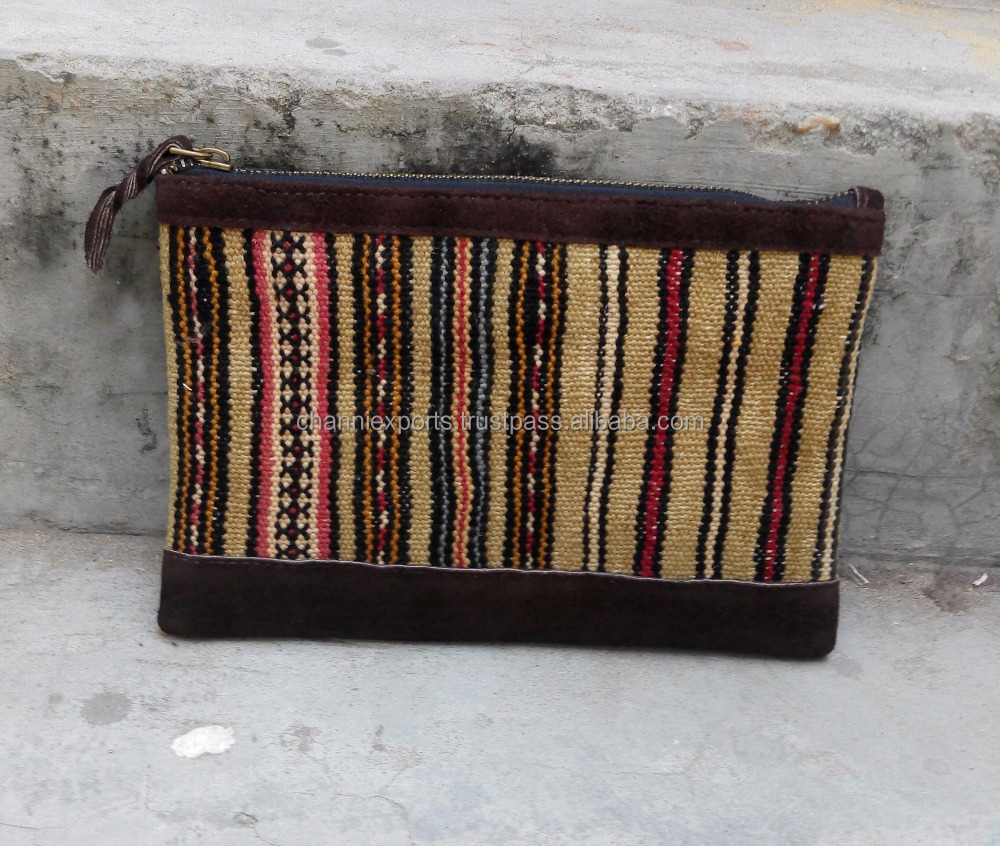 Authentic handmade Afghani kilim leather bags