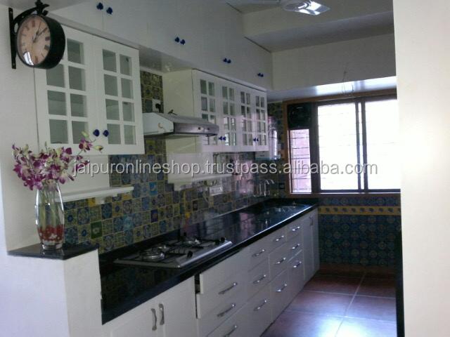 Wall art di ceramica blu piastrelle di ceramica da cucina set