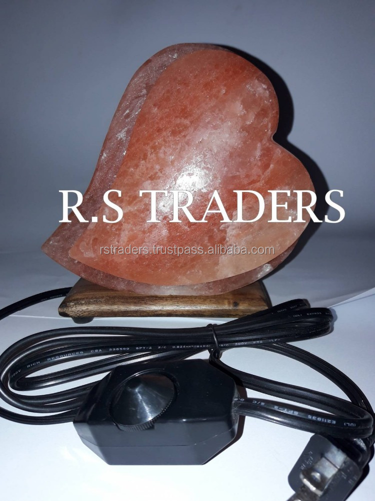 Himalayan Rock Salt lamps Hand Carved Romantic Heart Shape Himalayan Salt Lamp Ionic Air Purifier