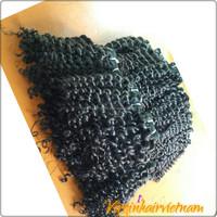 Cheap Curly Hair Extension Natural Color No Lice No Shedding 100% Raw Human Hair